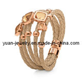 316L Stainless Stseel and Leather Bracelet (LSSB001)