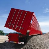 Most Popular 60t Side Dump Semi Trailer with 3 Axles