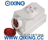 IEC 16A 5p Red IP44 Socket with Switch