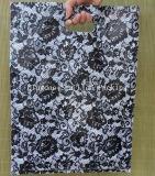 Plastic Printed Black Roses Shopping Die Cut Bag
