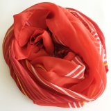 Fashion Elegent New Design Square Red Print Lady Silk Scarf (SC009)