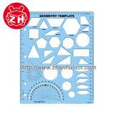 Plastic Geometry Template Ruler, Geometry Template School Ruler (ZHG042)