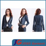 Black Lace Collar Women Jeans Suit Jeans Clothing (JC4069)