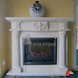 White Marble Stone Carved Fireplace for Home Decoration