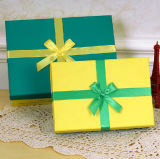Matched Solid Color Printing Paper Box with Ribbon