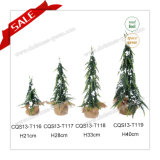 Snow Effect H21-40cm Eco-Friendly Plastic Needle Pine Christmas Tree