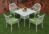 Elizabeth Cast Aluminum Powder Coated 5PCS Patio Restaurant Dining Set with IVY White Finish
