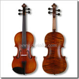 Flamed Violin Fiddle with Case, Conservatory Violin Outfit (VM145M)