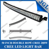 """Rigid Industries Style Camber CREE LED Light Bar, 50"""" 288W off Road LED Driving Lights, RDS-Series Curve/Arc Shaped Dual Row CREE Work Light Bar LED"""