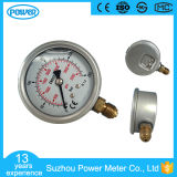 2.5 Inch Glycein Oil Brass Internals Stainless Steel Case Pressure Gauge