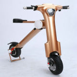 13 Inch 22.5kg 250W Golden Folding Travel Mobility Scooter