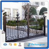 Canton Fair Decorative High Quality Arached Ornamental Wrought Iron Gate for Residential/Driveway/Vellia