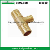 Customized Brass Crimp Reducer Tee/Brass Pex Cripm Fitting Tee (IC-1001)