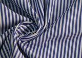 Royal/White Classical Stripe Plain Polyester Cotton Shirt Fabric