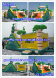 Tropical Palm Tree Slide Bounce House Combo Inflatable Bouncer (RO-062)
