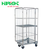 4 Doors Nestable Roll Container Cage Container Trolley