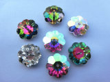 6mm 8mm 10mm 14mm Flower Shape Crystal Sew on Stones
