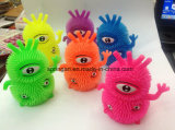 Kids Plastic Toy with Flash Fuzzy Ball Monster
