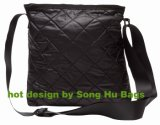 Fashion Deluxe Quilted Garment Fabric Tote Messenger Bag Sh-8290
