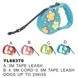 Flower Printed Auto Retractable Dog Leash (YL68370)