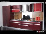 2015 [ Welbom ] Red Baked Paint Kitchen Design
