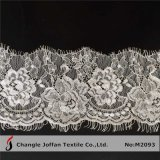 White Eyelash Lace for Dress Material (M2093)