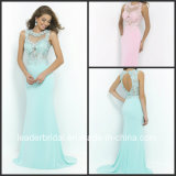 Lace Chiffon Party Cocktail Gown Vestidos Sheath Hollow Back Evening Dress Ld152915