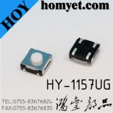 Round Button Tact Switch with 6.2*6.2*5mm 4 Pin SMD