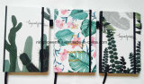 High Quality Printed PU Leather Cover Agenda Notebook with Elastic Strap Closure
