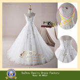 New Real Fashion Floor Length Lace Tulle Ball Gown Wedding Dress (WND24)