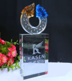 Glass Colored Popular Promotional Crystal Craft Crystal Award