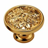 Brass Wardrobe Handle and Knob with Gp Gold Plated Finish