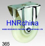 White PP Rigid Plate Top Caster