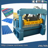 CE Certificated Color Metal Sheet Tile Cold Roll Forming Machine