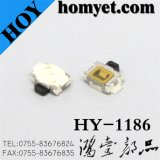 High Quality 3*4mm SMD Tact Switch with 2pin Feet (HY-1186)