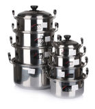 8 PCS Stainless Steel American High Pot Sets Cookware