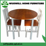 Solid Pine Wood Bi Color Dining Round Table (W-DF-0620)
