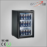 Open Door Mini Refrigerator with LED Light (SC68)