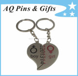 Merge Heart-Shaped Metal Souvenir Gift Key Chain