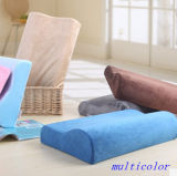 Bamboo Charcoal Wave Shape Slow Rebound Memory Foam Pillow with Velvet Case