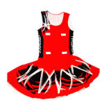 Custom Womens Red Dye Sublimation Netball Skirts with Your Design