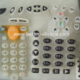 Custom Silicone Rubber Keyboard with Epoxy Surface Treatment
