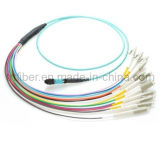 12 Fiber MTP / MPO OM3 50/125 Multi Mode Fiber Optic Patch Cord