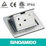 IP44 Flip up Floor Box/Floor Sockets with BS Poower Socket+CAT6