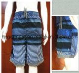 Strip Polyester Beachwear Swimwear Beach Shorts for Man/Women