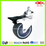 Swivel Screw with Brake Caster Wheel (L111-34C100X32S)