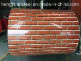Red Brick 3D Color Coated Aluminum Zinc Steel Coil PPGL