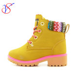 Family Fitted Kids Children Injection Safety Working Work Boots Shoes for Outdoor Job (SVWK-1609-041 TAN)