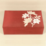 Wooden Flower Jewellery Box with Fabric Decoration