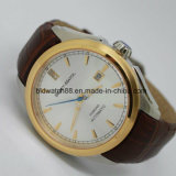 Luxury Self-Winding Sport Leather Mechanical Automatic Mens Watch Gold